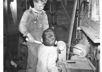 Don and Bill Gallagher old shop 1950
