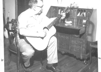 J. W. Gallagher 1st Gallagher Guitar @1965 & desk made @1950